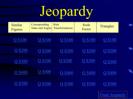 Similar Figure Jeopardy
