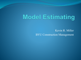 Estimating with BIM
