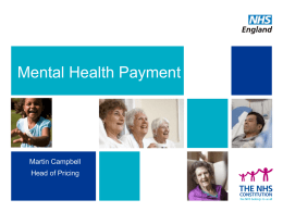 Mental health payment - The Office of London CCGs