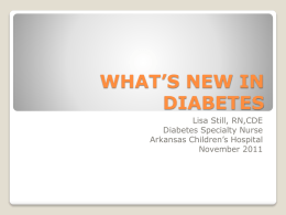 What`s New in Diabetes