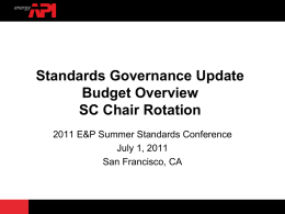 CSOEM July 1 2011 Standards Governance