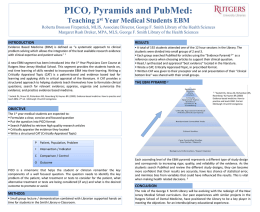 PICO, Pyramids and PubMed - Rutgers University Libraries