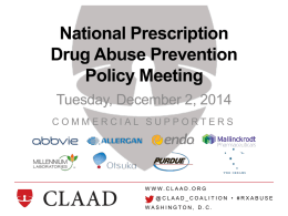 PowerPoint Format - National Prescription Drug Abuse Prevention