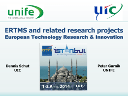 System - UIC ERTMS World Conference 2014
