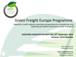 Presentation from Green Freight Europe