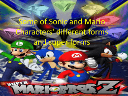 List of Sonic`s different forms and super forms