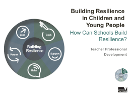 How can schools build resilience?