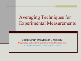 DDEP_WG/DDEP_2012/DDEP2012_Averaging Methods_Singh