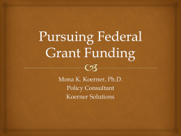 W24 Pursuing Federal Grant Funding