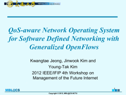 QoS-aware Network Operating System for Software Defined