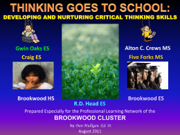 Thinking Goes to School - Gwinnett County Public Schools