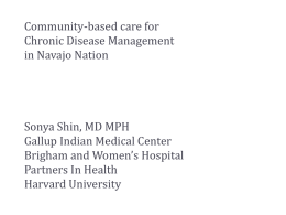 Community-based Care for Chronic Disease Management in Navajo