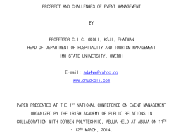 Prospects and Challenges - Dorben Polytechnic, Nigeria