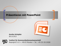 Präsentation PowerPoint