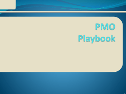 EPMO Playbook-James Brown - Project Management Institute