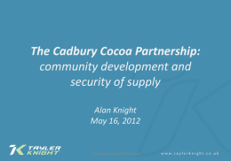 The Cadbury Cocoa Partnership