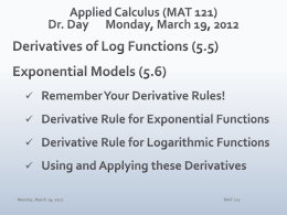 MAT 121 - Department of Mathematics | Illinois State University