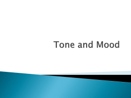 Tone and Mood PPT