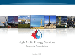 Papua New Guinea - High Arctic Energy Services
