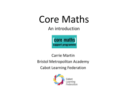 Introduction to Core Maths