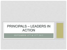 Principals – leaders in action - Australian Institute for Teaching and