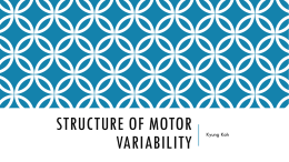 Structure of motor variability