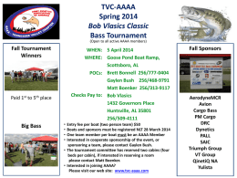 TVC-AAAA Spring 2014 Bob Vlasics Classic Bass Tournament 5