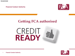 Getting FCA authorised
