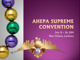 AHEPA SUPREME CONVENTION
