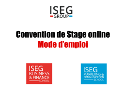 Convention de Stage online Mode d*emploi