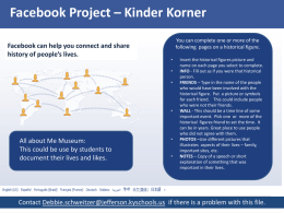 Famous Facebook Project