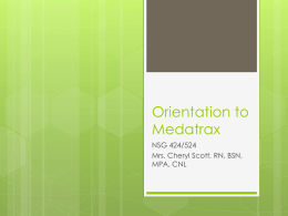 Orientation to Medatrax