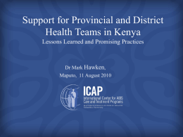 Mark Hawken, ICAP Kenya - I-Tech