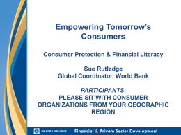 Financial literacy and consumer protection