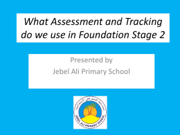 Tracking Children and Assessment Data for FS2