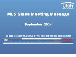 September MLS Sales Meeting Message (.ppt)