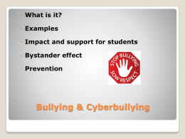 Bullying, Cyberbullying & Sexting