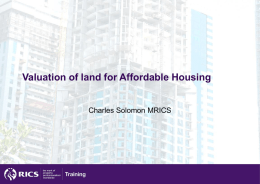 Valuation for affordable housing - Slides