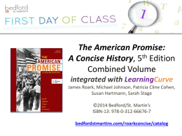 The American Promise: A Concise History