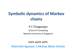Symbolic dynamics of Markov chains