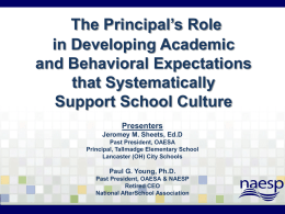 What is School Culture? - National Association of Elementary