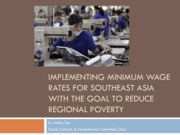 Implementing Minimum Wage Rates for Southeast Asia with the