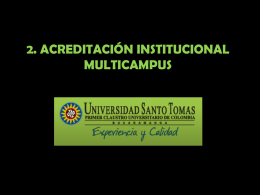 2. Acreditación Multicampus – USTA