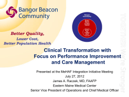 Bangor Beacon: Partnering with Patients to Improve Care
