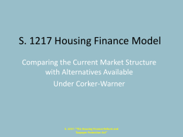S.1217 Housing Finance Structure