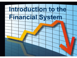 Introduction to Financial System