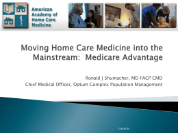 Medicare Advantage Plans - American Academy of Home Care