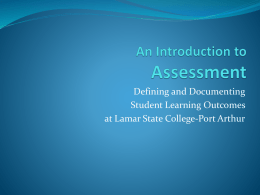 Introduction to Assessment Powerpoint