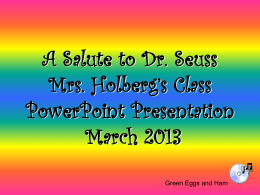 Dr. Seuss Power Points 2013