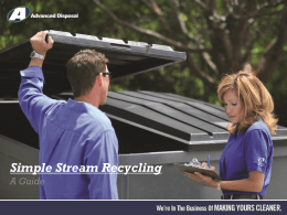 Simple Stream Recycling A Guide